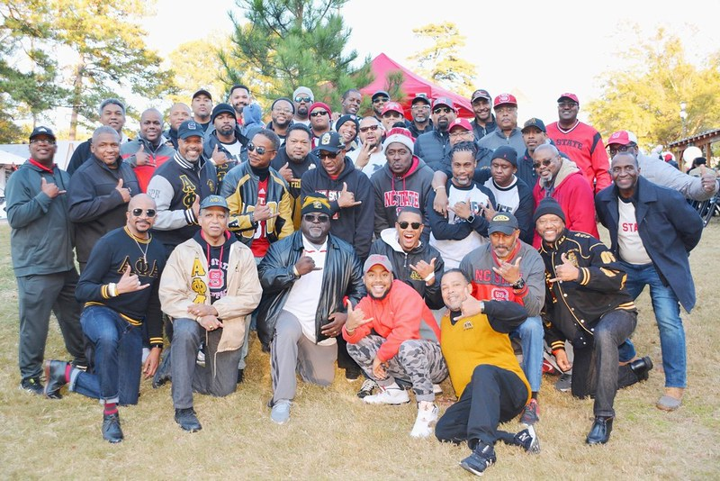 Members of the Black Alumni Society pose for a photo at BASFest.