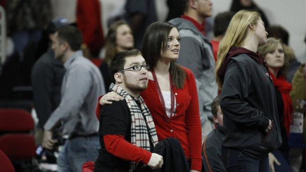 Will and Ashley at a basketball game in 2013.