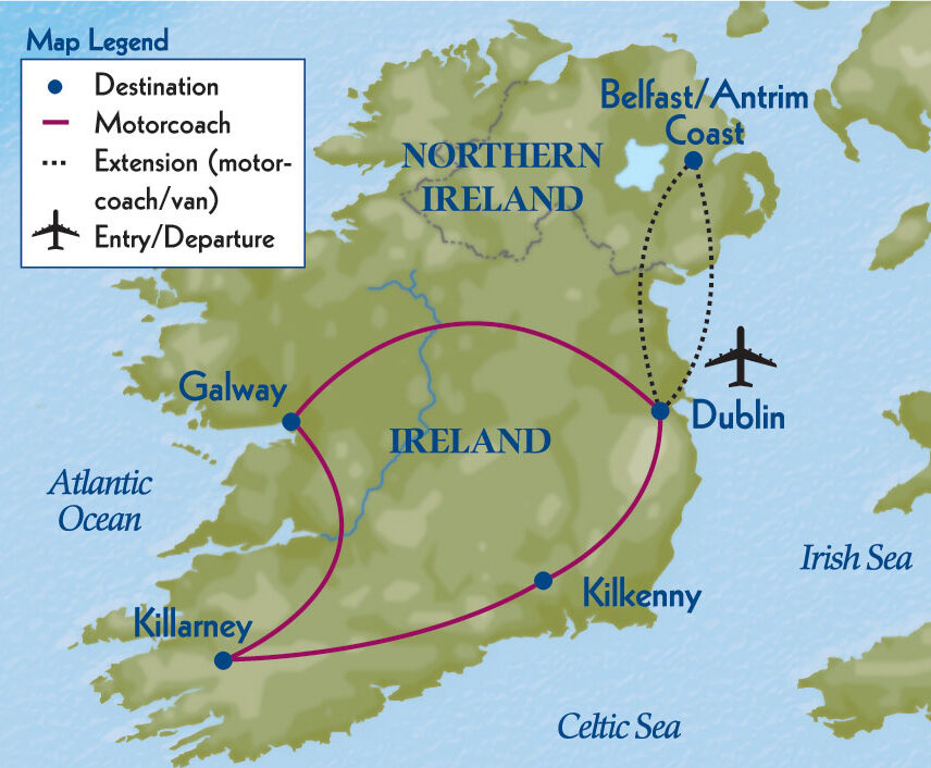 Enchanting Ireland Map