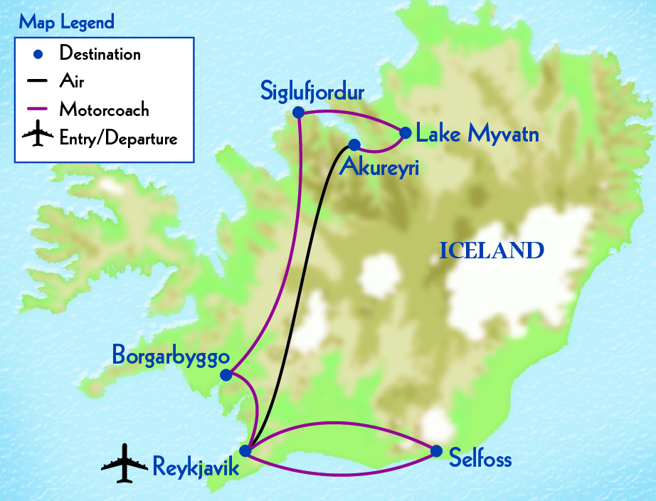 Exploring Iceland map