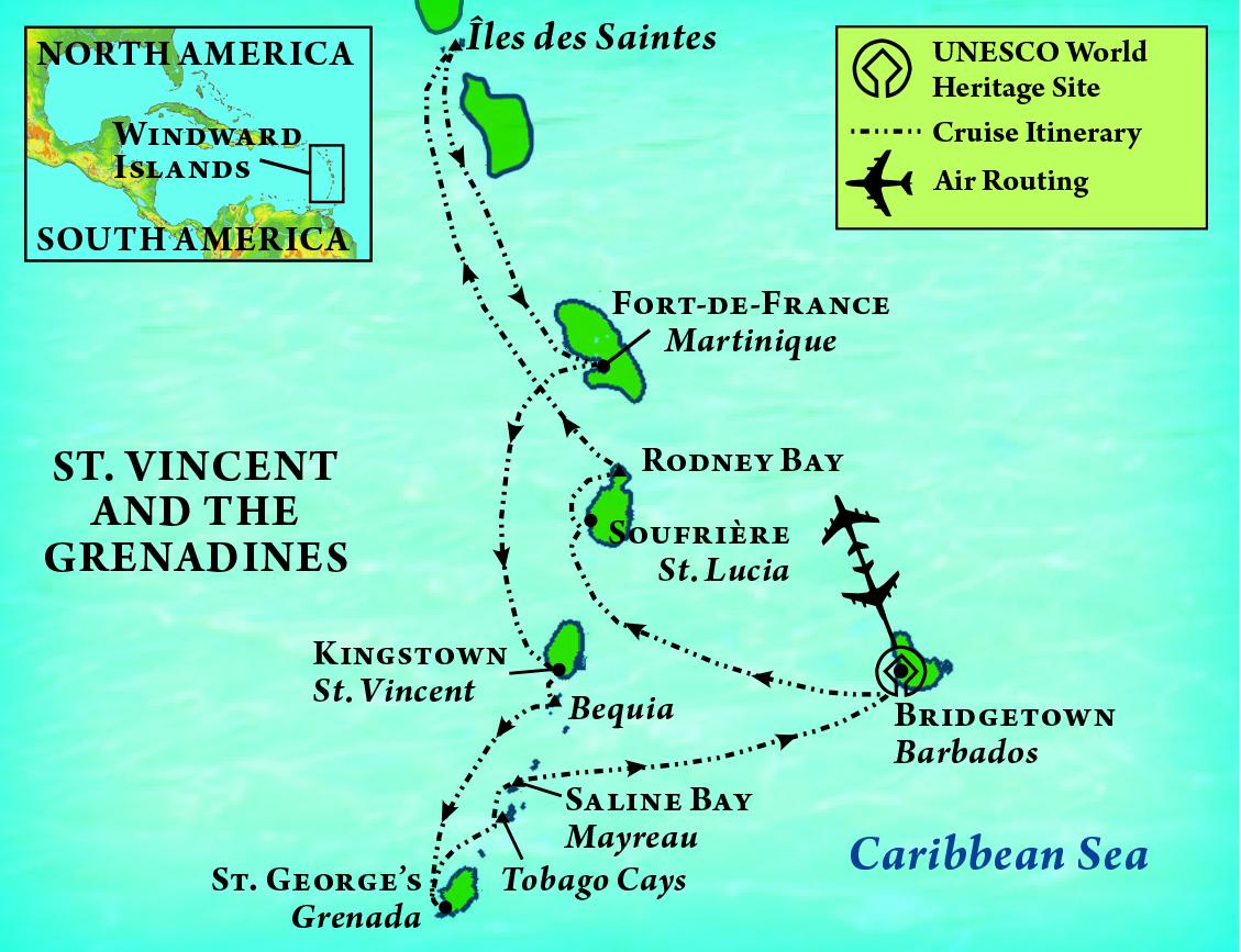 Treasures of the Caribbean Map