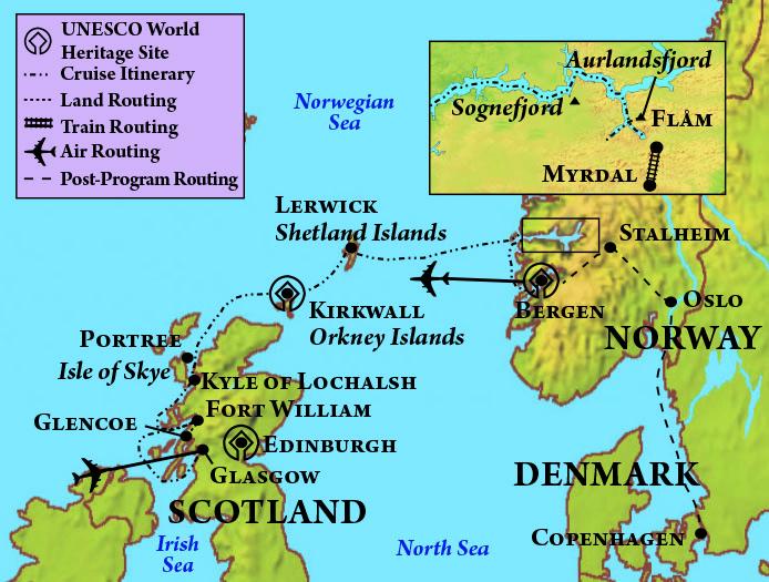 Norwegian Fjord Map